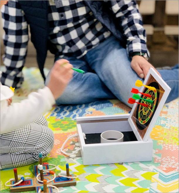 マグネット式ミニダーツ&バッグトスゲーム(5)