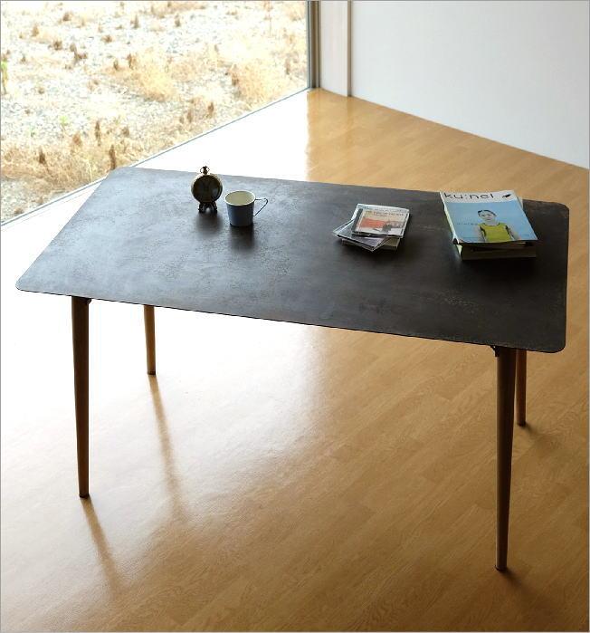 シャビーなアイアンとウッドのテーブル 140(1)
