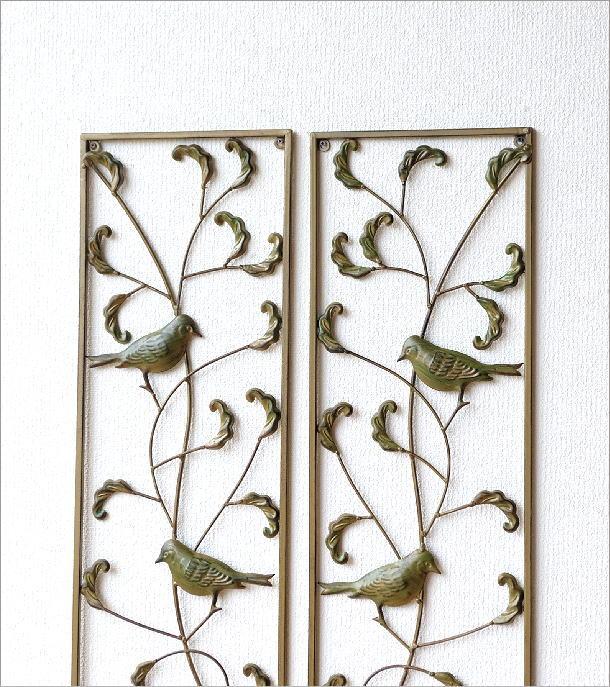 アイアンの壁飾り バード2枚セット(1)