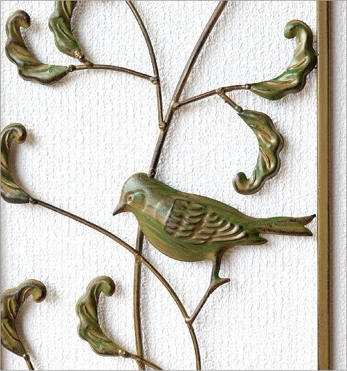 アイアンの壁飾り バード2枚セット(2)