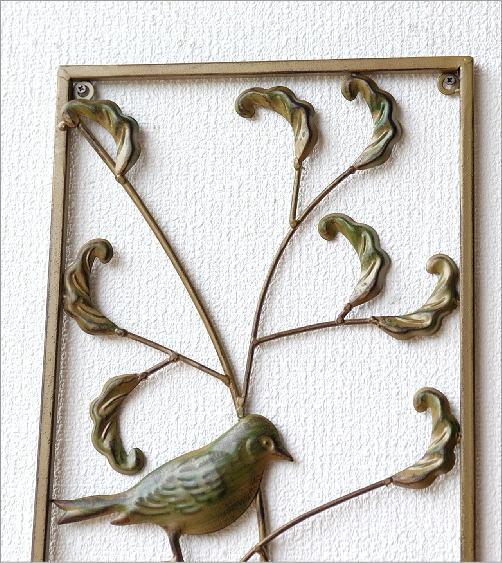 アイアンの壁飾り バード2枚セット(3)
