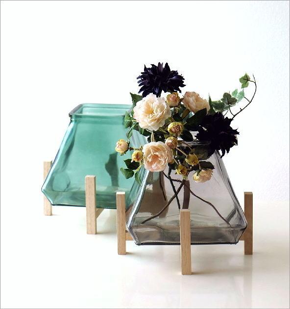 スタンド付ガラスベース 2カラー(1)