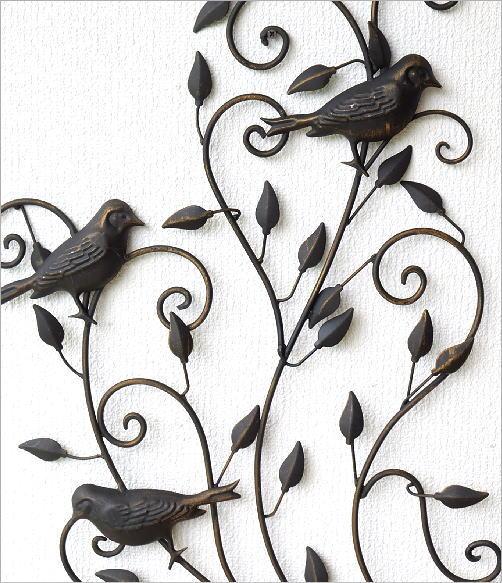 アイアンの壁飾り バードアラベスク(2)