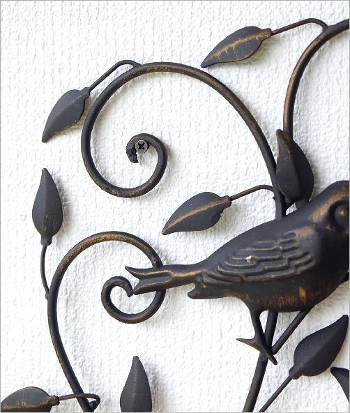 アイアンの壁飾り バードアラベスク(3)