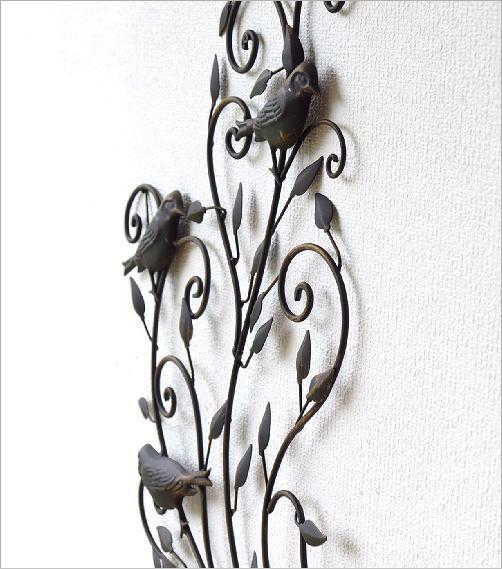 アイアンの壁飾り バードアラベスク(4)
