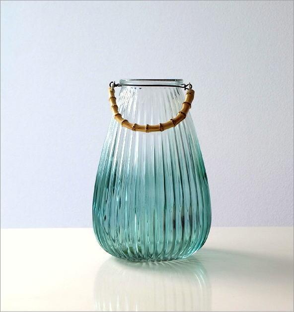 バンブーハンドル付ガラスベース(4)
