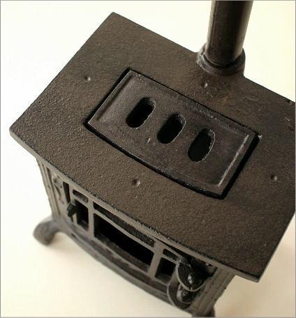 LED付きミニチュアストーブのオブジェ(3)