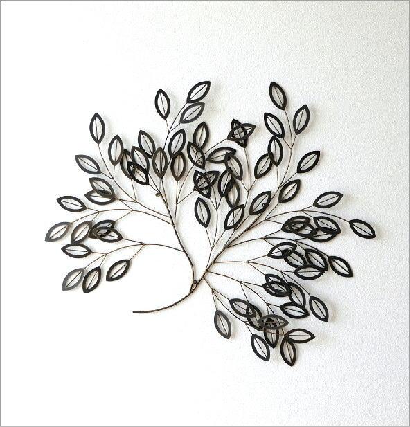 アイアン壁飾り リーフツリーB(4)