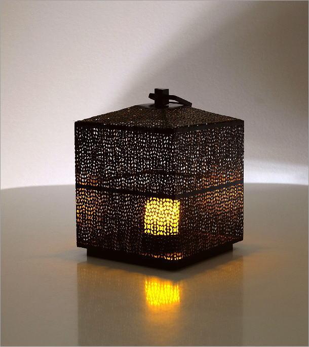 LED付きアイアンビッグランタン(1)