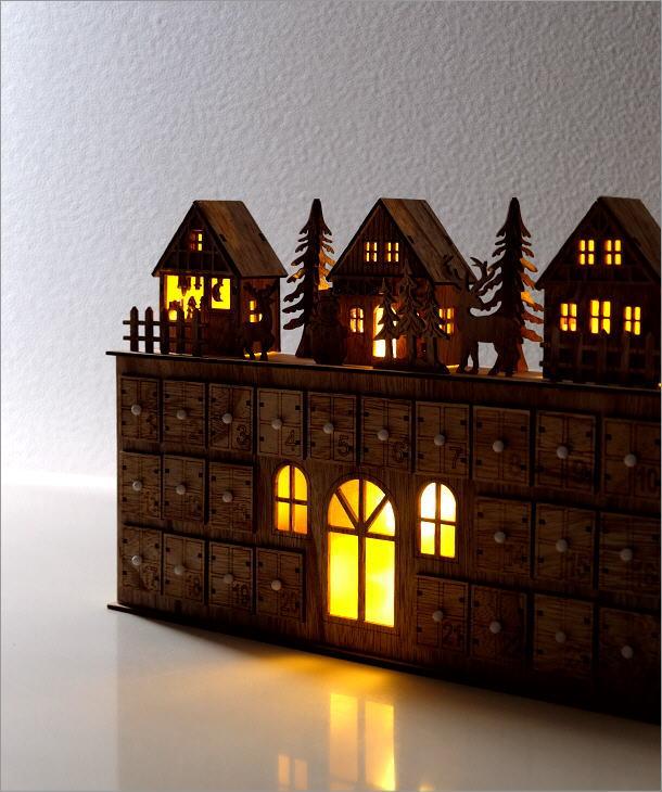 LEDアドベントカレンダー ヴィレッジ(1)