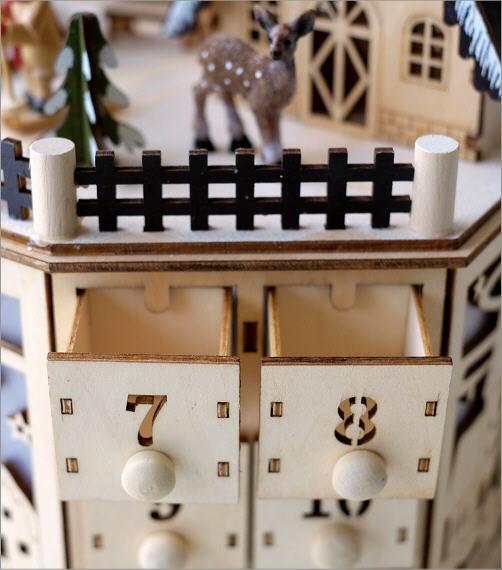 メロディウッドオブジェ アドベントカレンダー<b></b> ヴィレッジ(3)