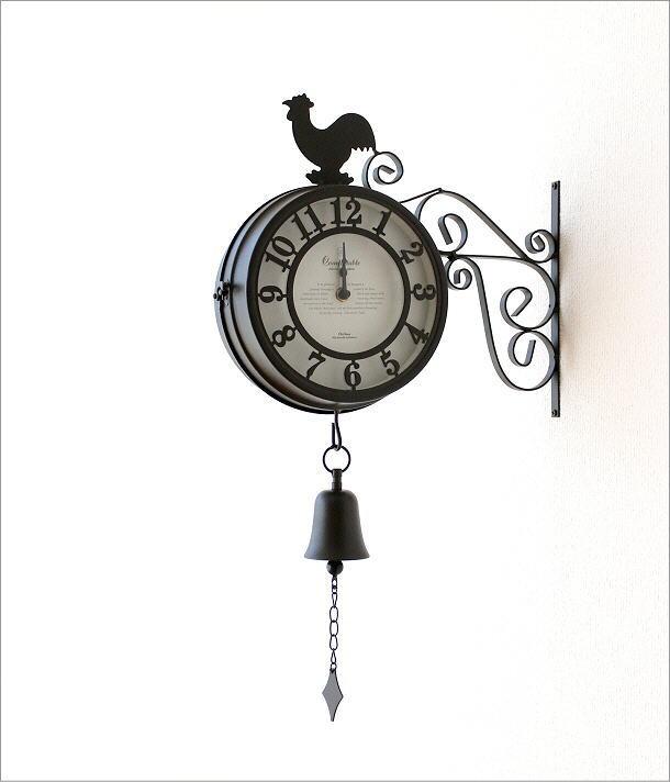 両面掛け時計 ベル(1)