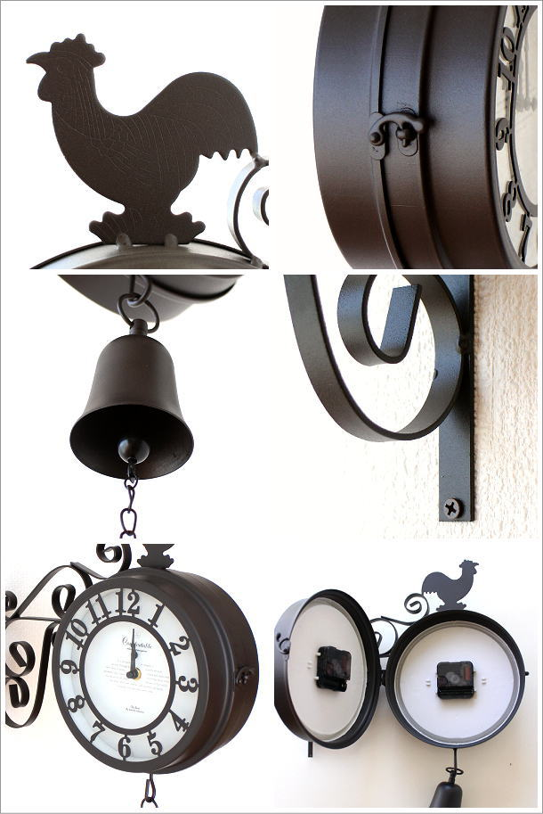 両面掛け時計 ベル(2)
