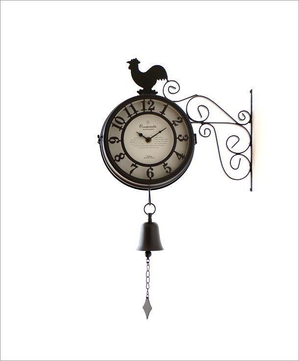 両面掛け時計 ベル(4)