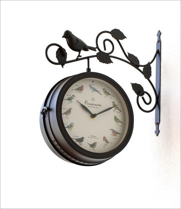 両面掛け時計 バード(1)