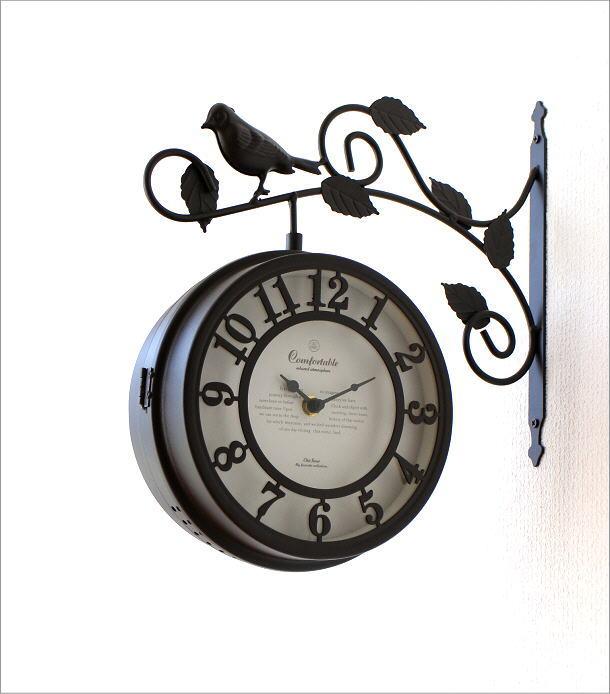 両面掛け時計 バード(2)