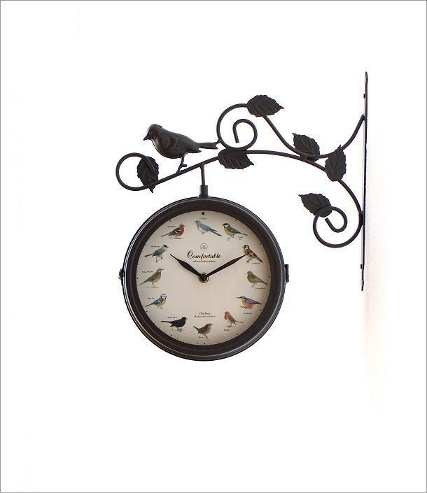 両面掛け時計 バード(5)