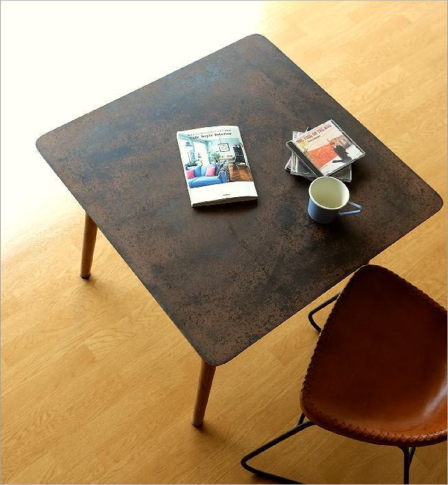 シャビーなアイアンとウッドのテーブル 70(1)