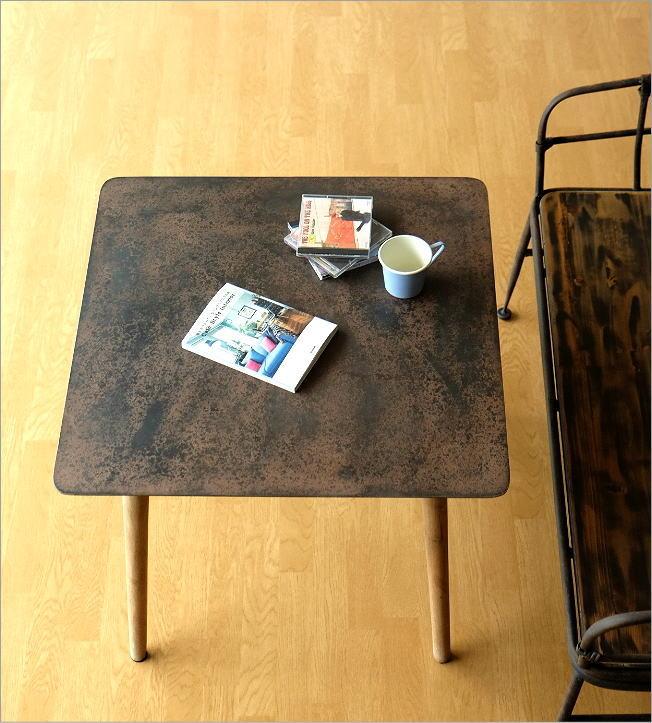 シャビーなアイアンとウッドのテーブル 70(2)