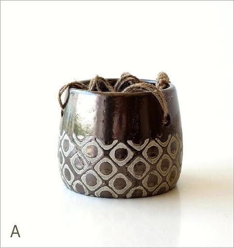 陶器のハンギングポット4タイプ(2)