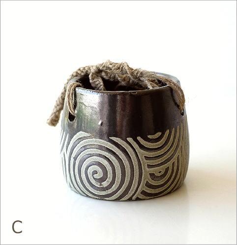 陶器のハンギングポット4タイプ(6)