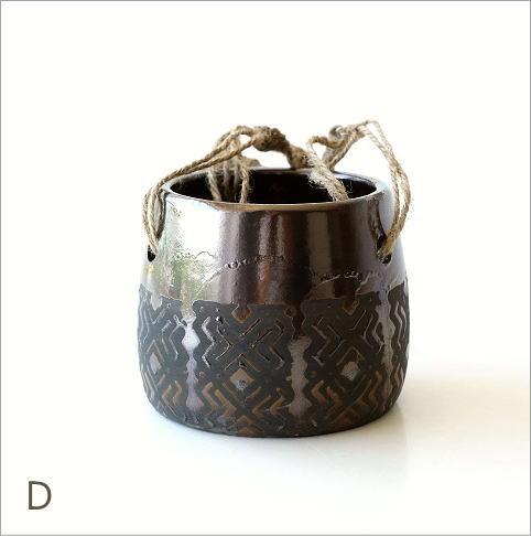 陶器のハンギングポット4タイプ(8)