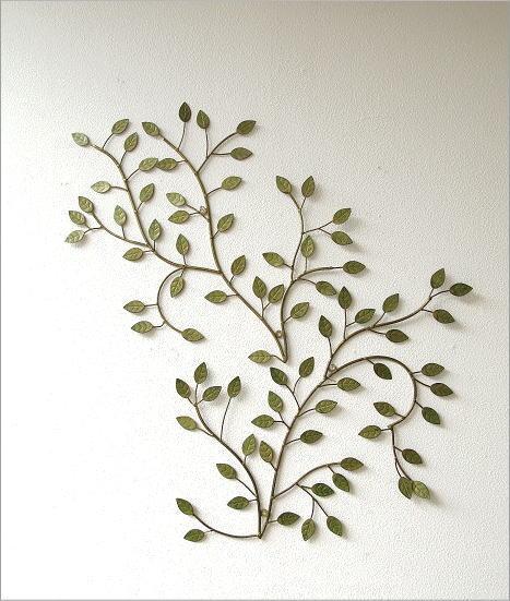アイアン壁飾り グリーンリーフ A 2枚セット