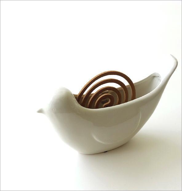 陶器の蚊遣り バード(1)