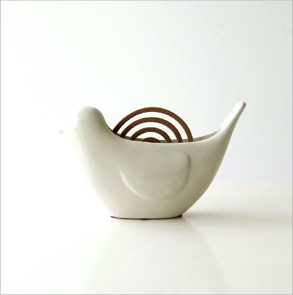 陶器の蚊遣り バード(4)