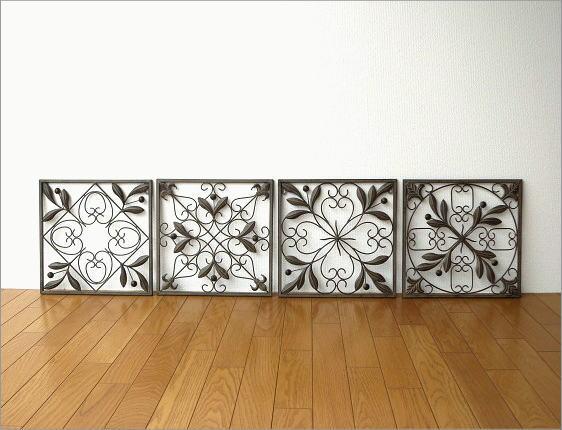 アイアン壁飾り 4リーフ(6)
