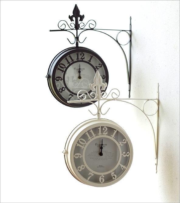 壁掛両面時計 2カラー(1)