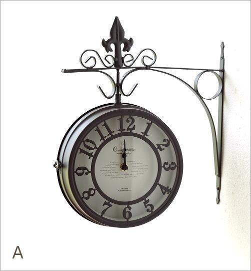 壁掛両面時計 2カラー(5)