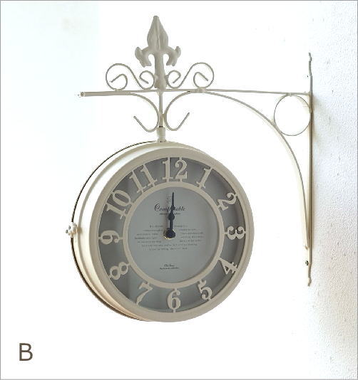 壁掛両面時計 2カラー(6)