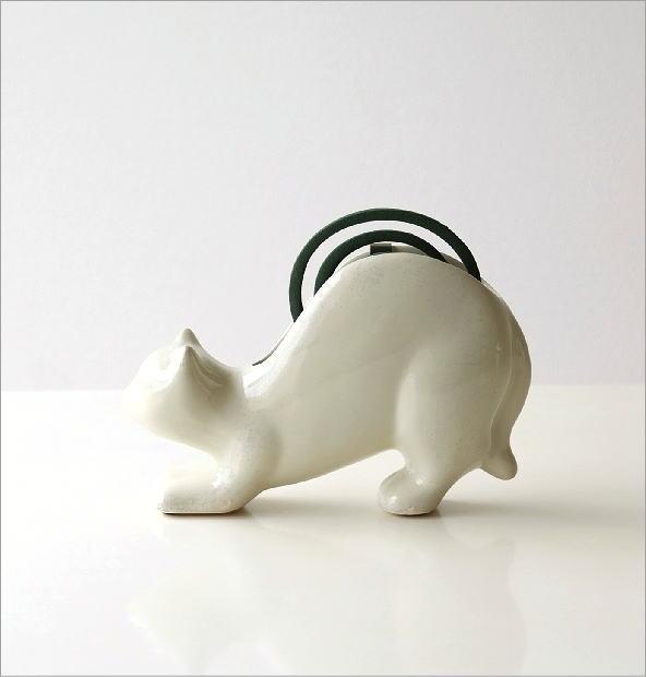 陶器の蚊遣り ネコ(4)