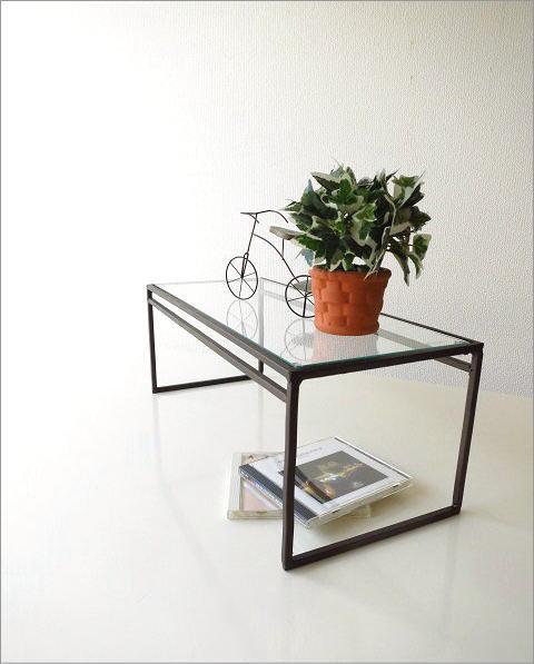 アイアンとガラスのシンプル棚 A(1)