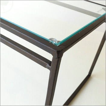 アイアンとガラスのシンプル棚 A(3)
