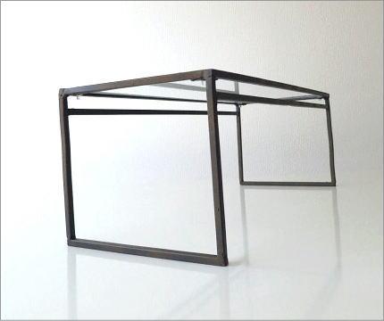 アイアンとガラスのシンプル棚 A(4)