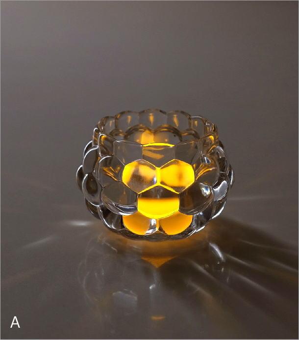 LED付きキャンドルホルダー2カラー(1)