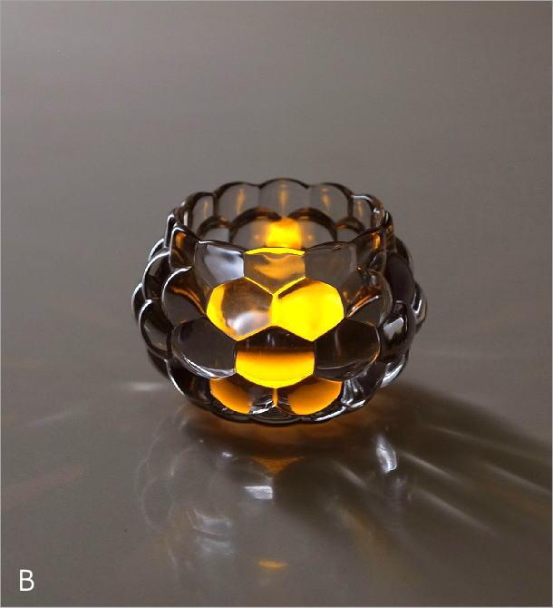 LED付きキャンドルホルダー2カラー(2)