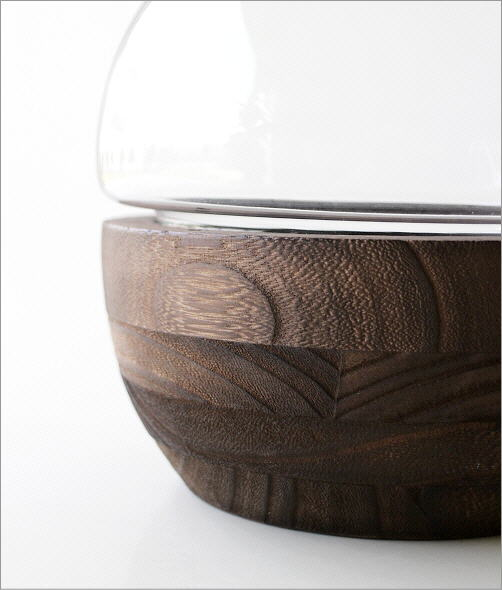 ウッドとガラスのフラワーベース(3)