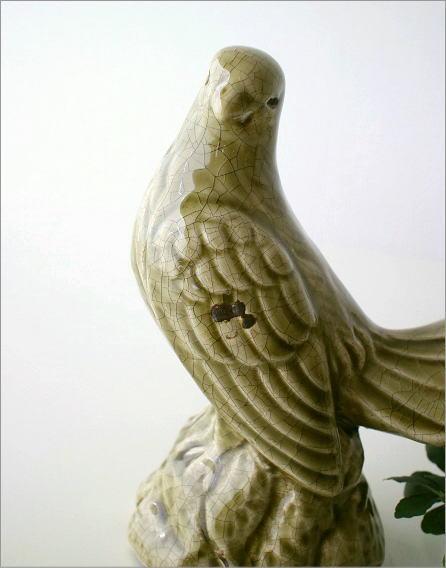 陶器のアンティークなバード(2)