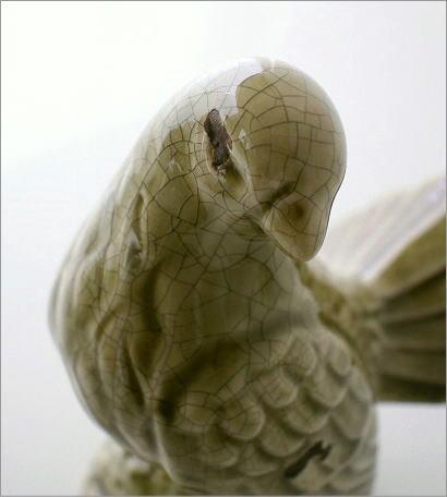 陶器のアンティークなバード(4)