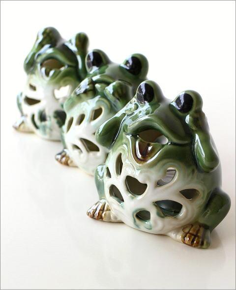 カエルのキャンドルポット 3セット(2)