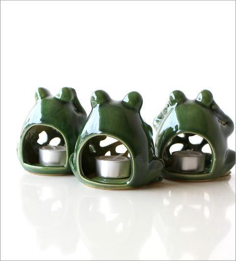 カエルのキャンドルポット 3セット(3)