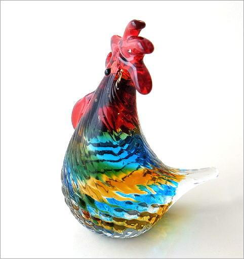 カラフルなガラス鶏(3)