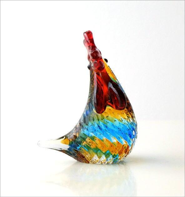 カラフルなガラス鶏(4)