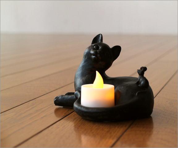 ネコのLEDキャンドルホルダー(1)