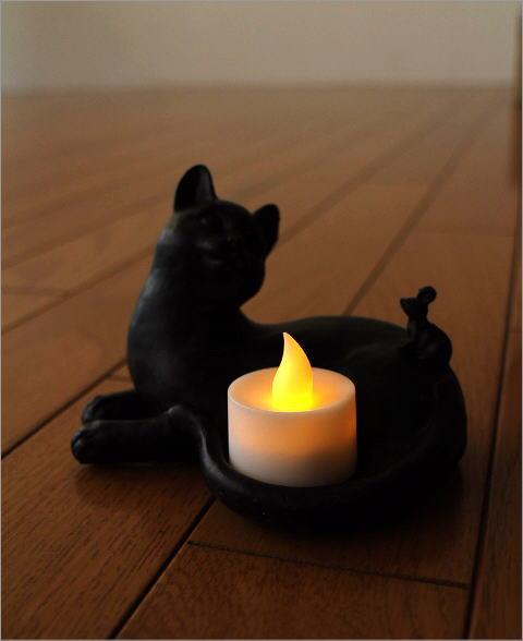 ネコのLEDキャンドルホルダー(6)