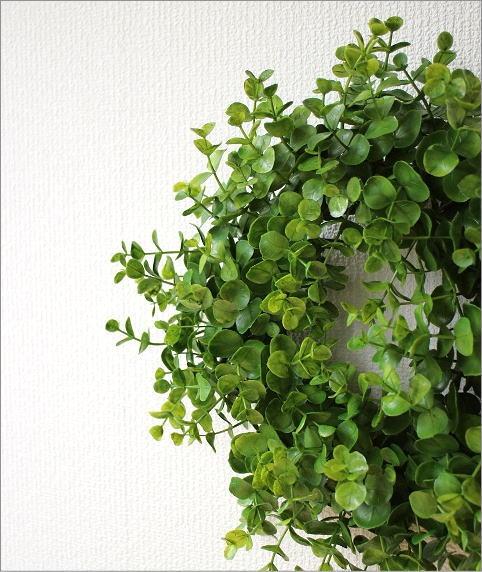 フェイクグリーンの壁飾り ユーカリのリース(1)