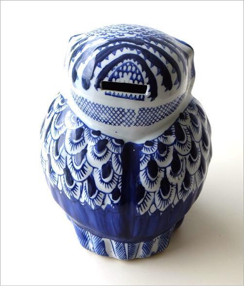 陶器の貯金箱 浮羽梟L(3)